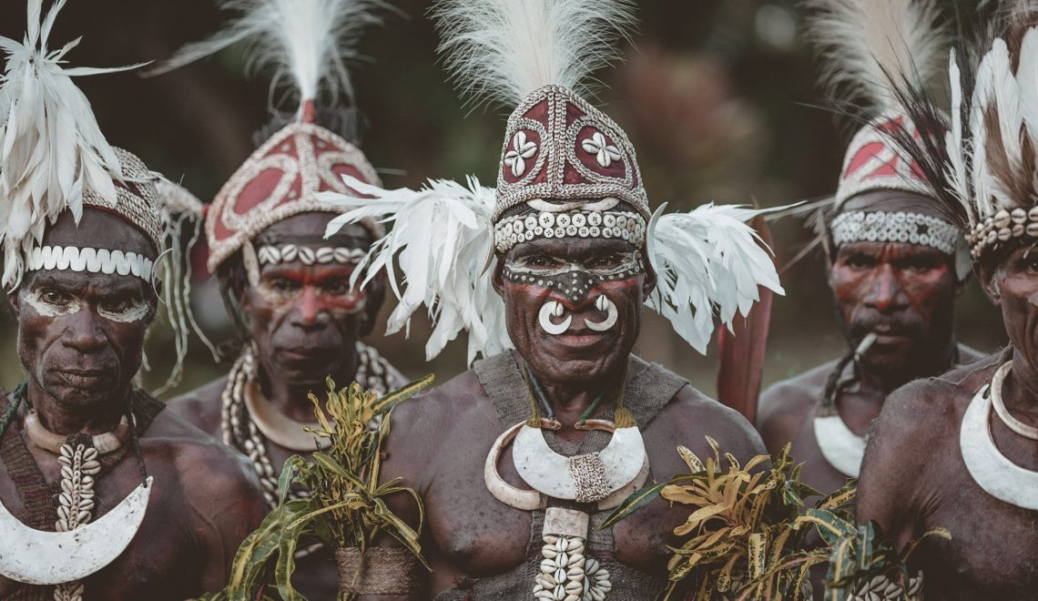 The tribespeople of Papua New Guinea